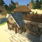 Minecraftで街作り-入り江の街建築日記1