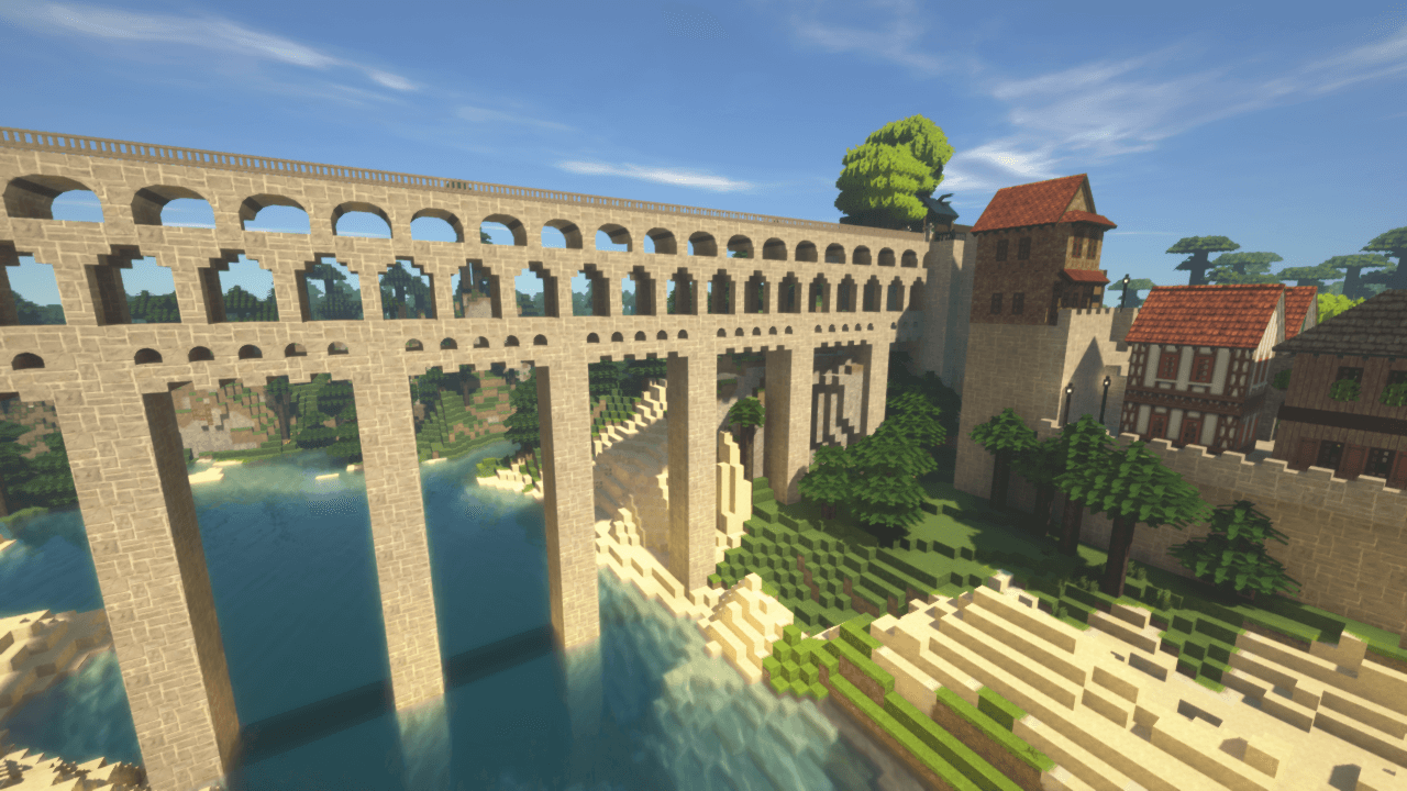 Minecraftで街作り-入り江の街建築日記5